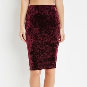 Red Velvet Pencil Skirt🌹